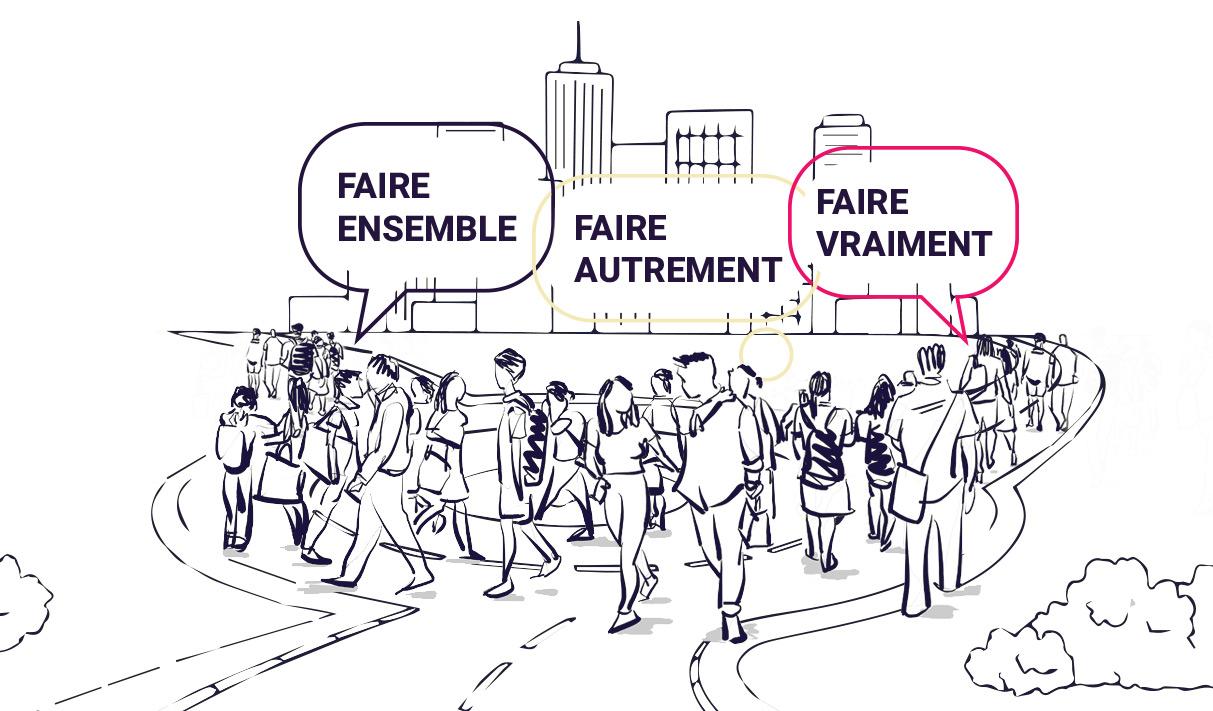 Illustration Co-construction - Intelligence collective - Vivre ensemble - Savoir Faire - Atelier Faye